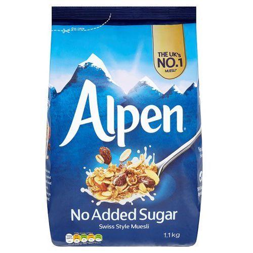 Alpen No Added Sugar Swiss Style Muesli Granola Cereal 500g