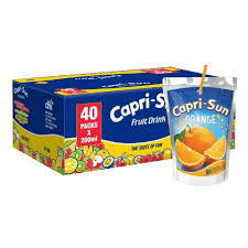 Photo showing carton of caprisonne