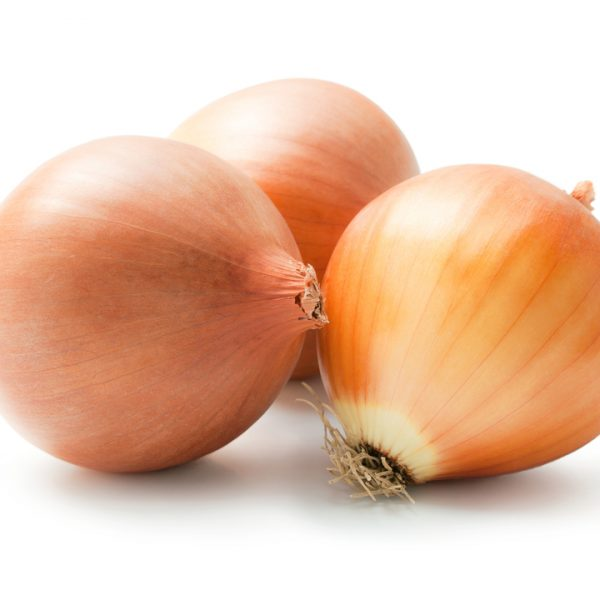 Photo showing brown onions