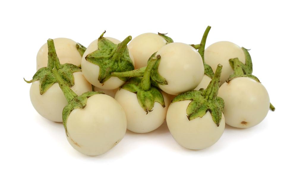 Photo showing white garden eggs