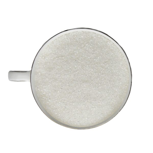 Photo showing white granulated sugar