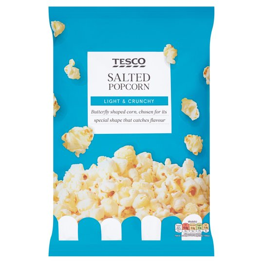 Tesco Salted Popcorn Light and Crunchy