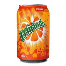 Photo showing mirinda can