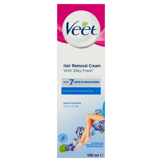 Veet hair removal cream with silky fresh