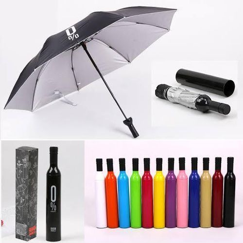 Wine bottled shaped umbrellas